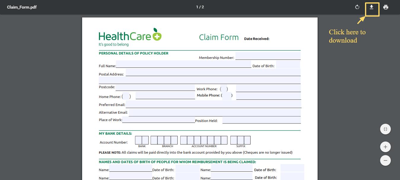 Claim_Form - HealthCarePlus
