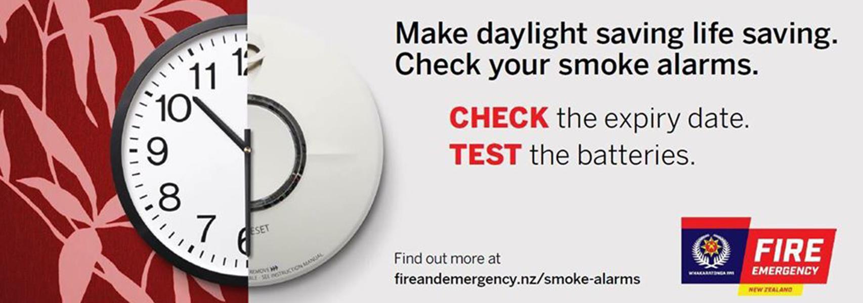 Daylight savings - check smoke alarm