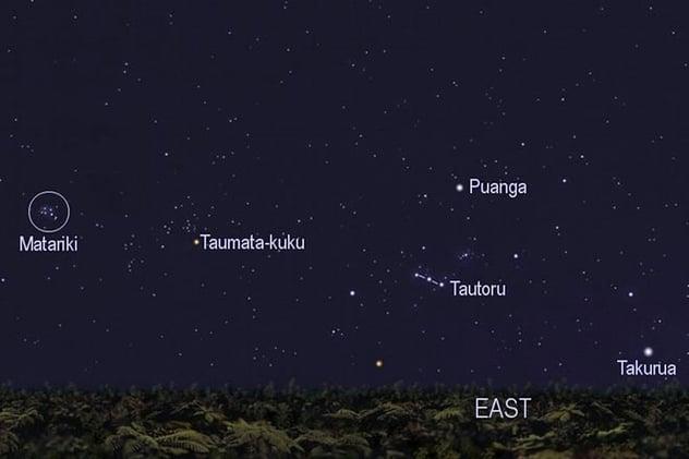 Matariki in the sky