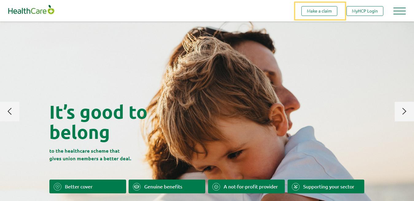 Online claim form - HealthCarePlus